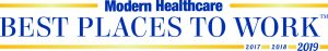Modern Healthcare Best Places to Work Award 2017, 2018, 2019