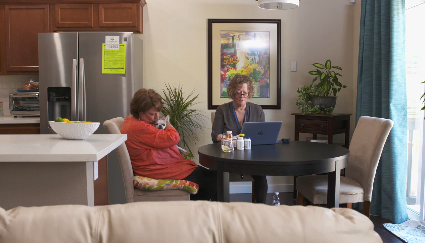 Coordinated in-home care.  image