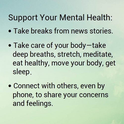 Taking care of your mental health during an infectious disease outbreak. image