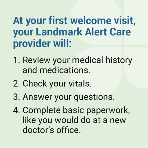 Alert-Care in-home urgent services may include: Image