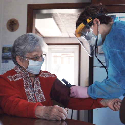 Getting medical care during the pandemic. Image